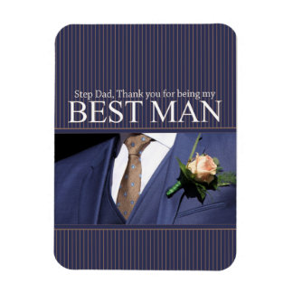 Step Dad  thank you best man - invitation Rectangular Photo Magnet