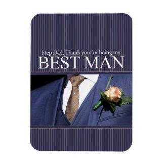 Step Dad  thank you best man - invitation Rectangular Photo Magnet