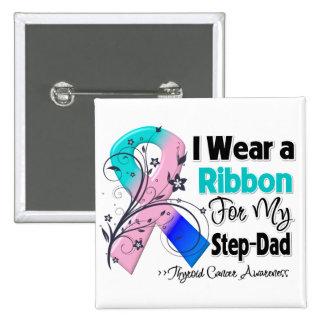 Step-Dad - Thyroid Cancer Ribbon Button