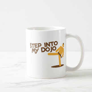 step into my dojo katate fighting design basic white mug