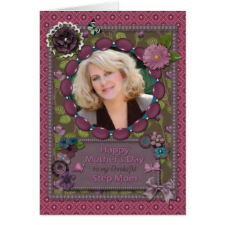Step Mom Photo Mother s Day card