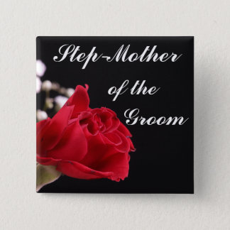 Step Mother Of The Groom 15 Cm Square Badge