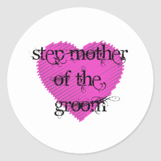 Step Mother of the Groom Classic Round Sticker