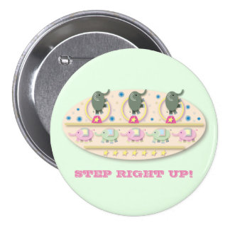 Step Right Up Circus Elephants 7.5 Cm Round Badge