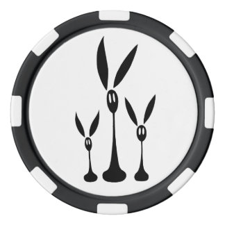 Step, Trip and Fall the Shadow Rabbits Poker Chips