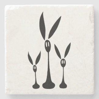 Step, Trip and Fall the Shadow Rabbits Stone Coaster