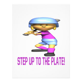 Step Up To The Plate 21.5 Cm X 28 Cm Flyer