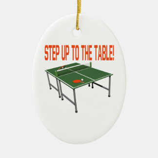 Step Up To The Table Christmas Ornament