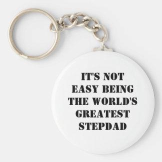 Stepdad Basic Round Button Key Ring