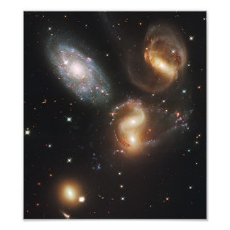 Stephan s Quintet Galaxies Hubble Telescope Photo Print