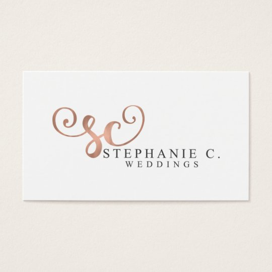 Stephanie C Weddings Business Card