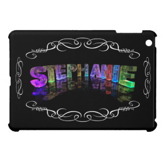 Stephanie  - The Name Stephanie in 3D Lights (Phot Case For The iPad Mini