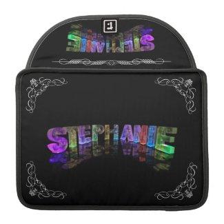 Stephanie - The Name Stephanie in 3D Lights (Phot MacBook Pro Sleeves