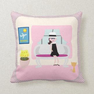 Stephanies New York Breakfast Throw Pillow