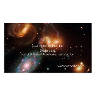 Stephans Quintet deep space star galaxy cluster Pack Of Standard Business Cards