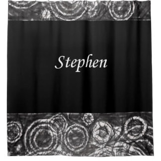 Stephen black white showercurtain shower curtain