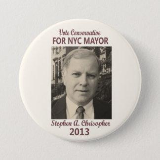 Stephen Christopher for NYC Mayor 2013 7.5 Cm Round Badge