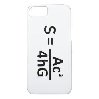 STEPHEN HAWKIN BLACK HOLE ENTROPY FORMULA iPHONE iPhone 8/7 Case