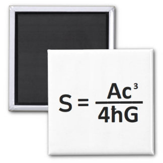 Stephen Hawkin  Black Hole Entropy Formula Magnet