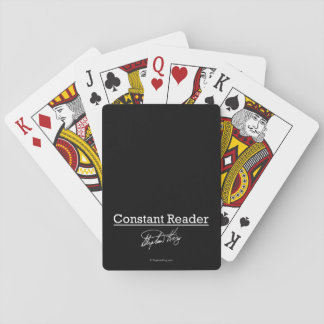 Stephen King, Constant Reader Playing Cards