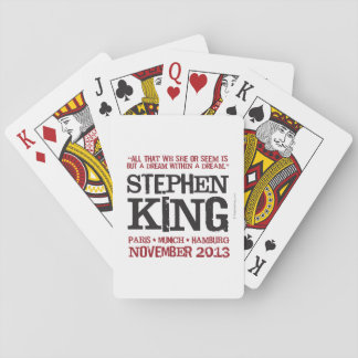 Stephen King's Euro Tour Playing Cards