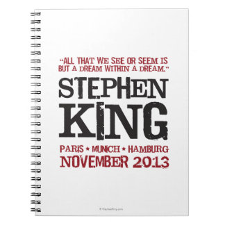 Stephen King's Euro Tour Spiral Notebooks