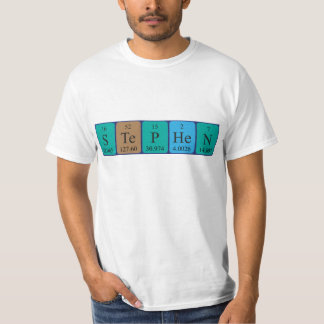 Stephen periodic table name shirt