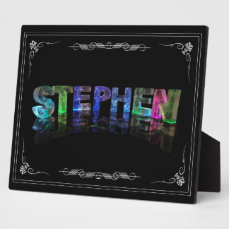 Stephen  - The Name Stephen in 3D Lights (Photo) Plaque