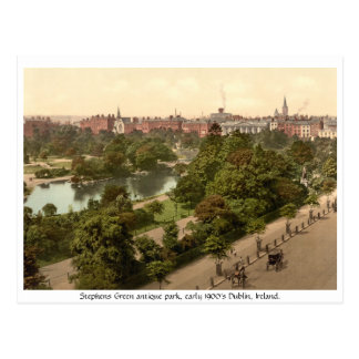 Stephens Green antique Dublin park Post Cards