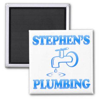 Stephen's Plumbing Square Magnet