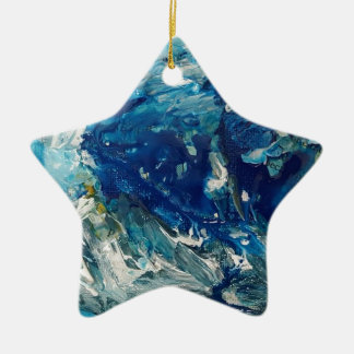 stephens wave ceramic star decoration
