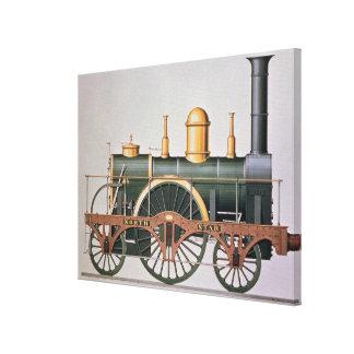 Stephenson's 'North Star' Steam Engine, 1837 Stretched Canvas Print