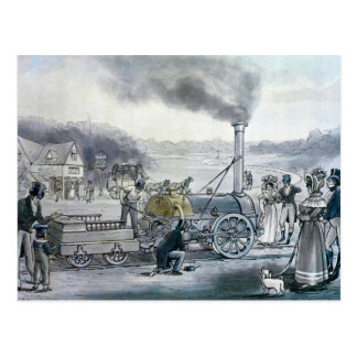 Stephenson's 'Northumbrian' Postcard