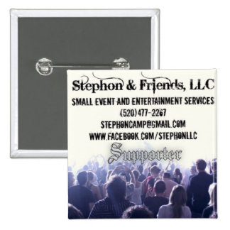 Stephon & Friends 2 Inch Square Button