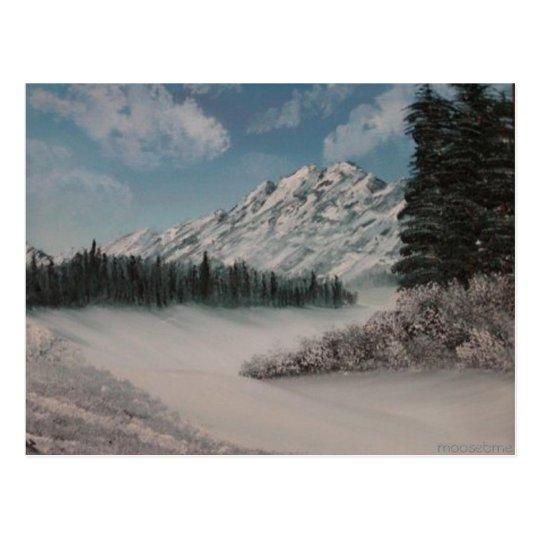 Steph's Snowy Mountain Painting Postcard