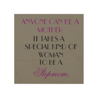 Stepmom Wall Art: Septmom Gift Wood Wall Art