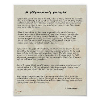 Stepmother's prayer poster 8x10