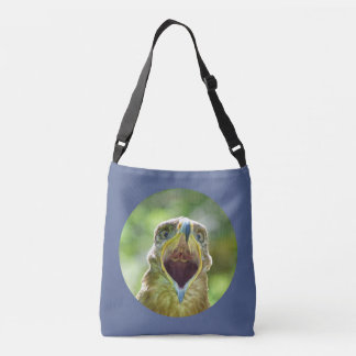 Steppe Eagle Head 0012 01, screaming Crossbody Bag