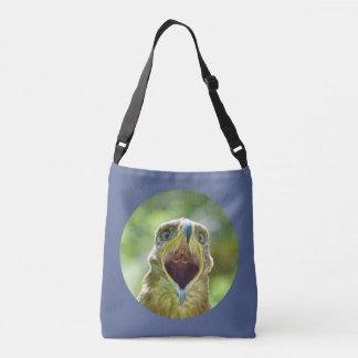 Steppe Eagle Head 0012 01, screaming Tote Bag