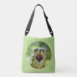 Steppe Eagle Head 0012 02.2, screaming Crossbody Bag