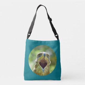 Steppe Eagle Head 0012 02, screaming Crossbody Bag