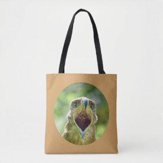 Steppe Eagle Head 0012 06, screaming Tote Bag