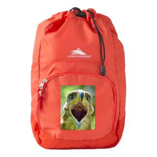 Steppe Eagle Head 001 01.2, screaming Backpack
