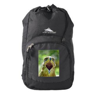 Steppe Eagle Head 001 01, screaming Backpack
