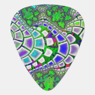 Steppin Stone Psychedelic 3D Abstract Guitar Pick