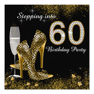 Stepping Into 60 Birthday Party Card