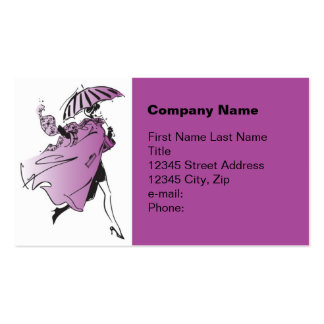 Stepping Out in Purple Business Card Template