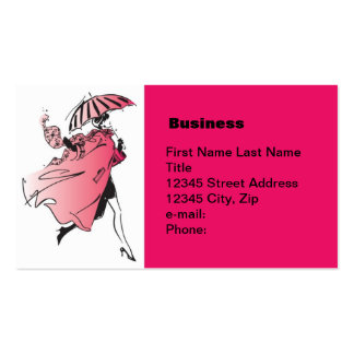 Stepping Out in Red Business Cards
