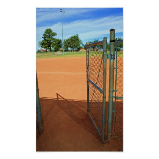 Stepping Up to Homeplate Painting Poster