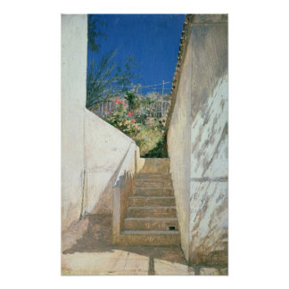 Steps in a Garden, Algeria, 1883 Poster